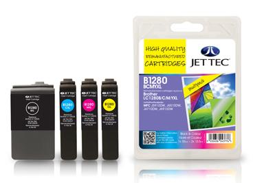 Jettec Druckerpatronen kompatibel zu Brother LC1280 im Sparpaket