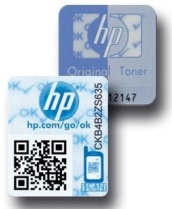 HP Hologramme und Siegel bei Originalprodukten