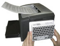 Motage eines Feinstaubfilters bei Laserdruckern