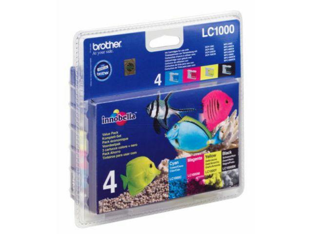 LC1000VAL Multipack mit 1 x 500, 3 x 400 Seiten, color und schwarz