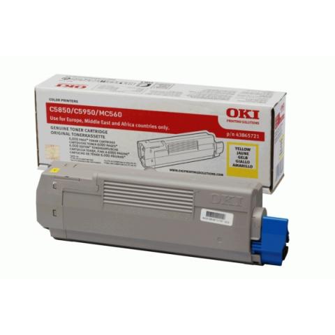 OKI 43865721 Toner für ca. 6000 Seiten für C5850