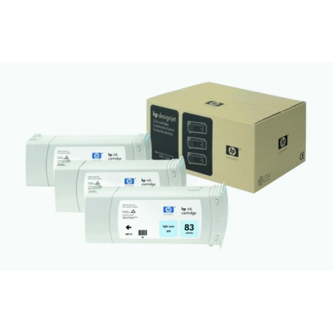HP C5076A Tintenpatrone cyan hell, UV-Tinte C