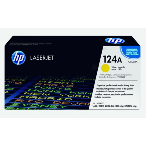 HP Q6002A Toner original HP 124A, Kapazität für