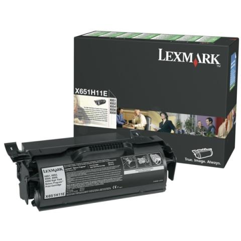 Lexmark X651H11E original Toner Kartusche return
