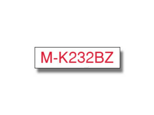 MK232BZ BROTHER P-TOUCH 12mm W-R white-red 8m non-laminated