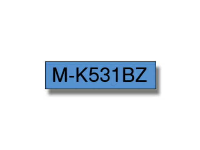 MK531BZ BROTHER P-TOUCH 12mm B-B blue-schwarz 8m non-laminated