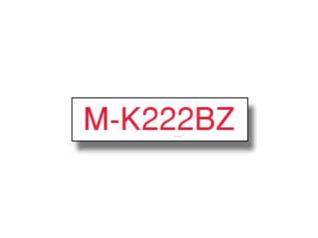 MK222BZ BROTHER P-TOUCH 9mm WHI-REDwhite-red 8m non-laminated