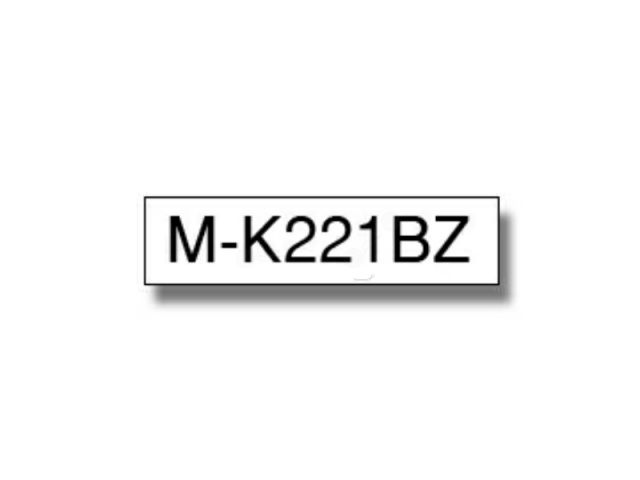 MK221BZ BROTHER P-TOUCH 9mm WHI-BLKwhite-schwarz 8m non-laminated