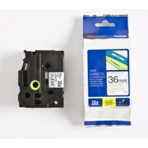 Brother P-Touch 36mm schwarz auf Transparent,