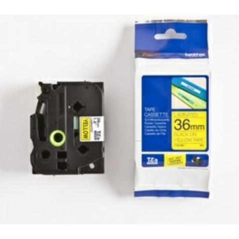 Brother P-Touch 36mm schwarz auf gelb Laminat,