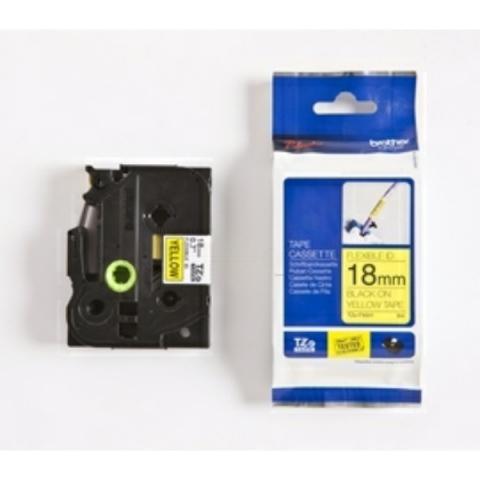 Brother P-Touch 18mm schwarz auf gelb Laminat,