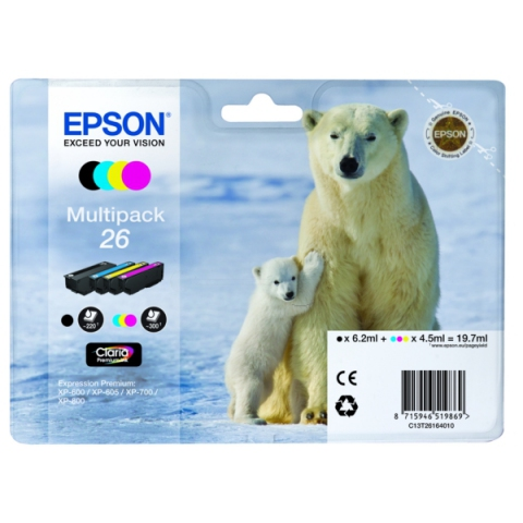 Epson C13T26164010 Originalprodukt Multipack