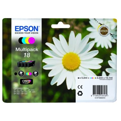 Epson Multipack mit 4 Druckerpatronen und