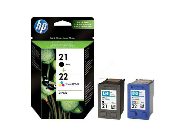 SD367AE Multipack Druckerpatrone mit Druckkopf HP No.21 schwarz u. No.22 color, schwarz und