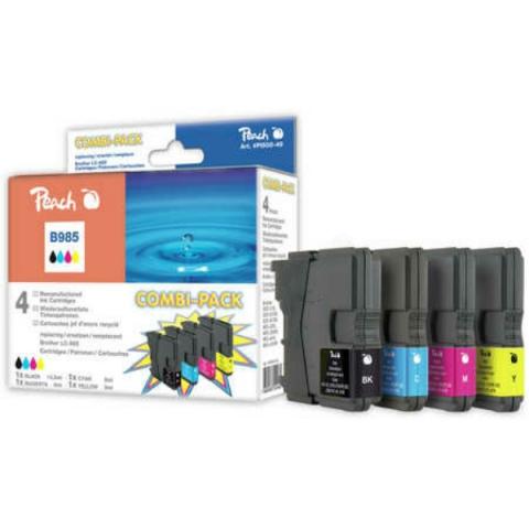 Peach Multipack mit 4 Tintenpatronen mit 1 x