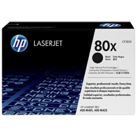 HP CF280X Toner HP 80X, für ca. 6.900 Seiten,