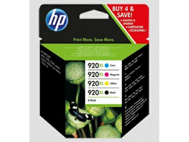 Multipack Druckerpatronen HP 1 x 920 (CD975AE) schwarz und 3 x No. 920 (CD972, CD973, CD974AE)
