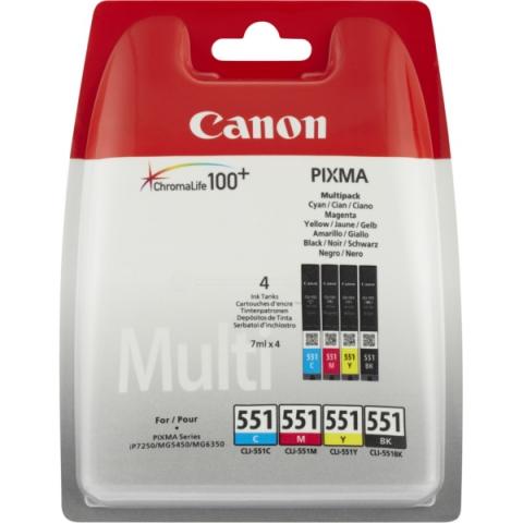 Canon CLI-551 Multipack Druckerpatronen mit 4