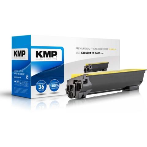 KMP Rebuild Toner ersetzt TK-540Y mit einer