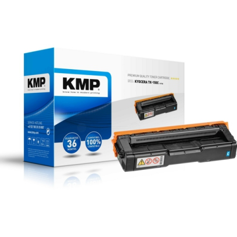KMP Toner, kompatibel zu TK-150C für ca. 6.000