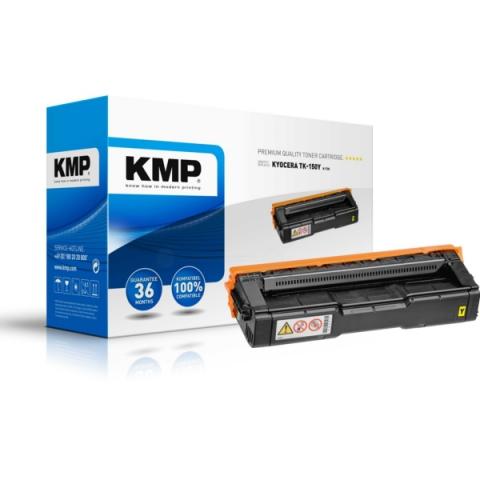 KMP Toner, kompatibel zu TK-150Y für ca. 6.000