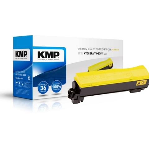 KMP Toner, kompatibel zu TK-570Y für ca. 12.000