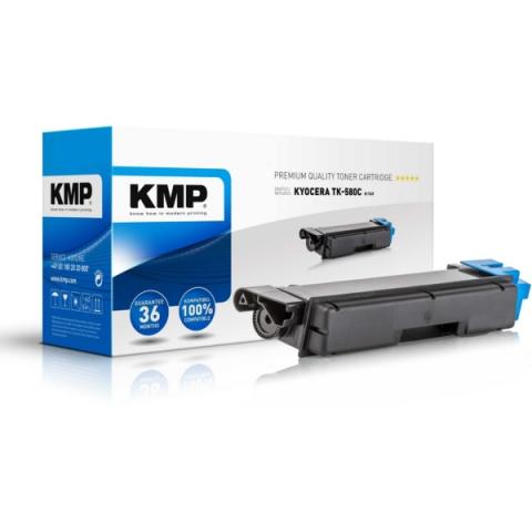 KMP Toner, ersetzt Kyocera TK-580C recycelter