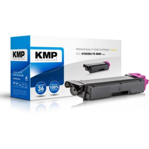 KMP Toner, ersetzt Kyocera TK-580M recycelter