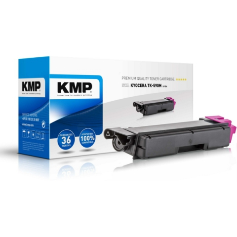 KMP Toner, ersetzt Kyocera TK-590M recycelter