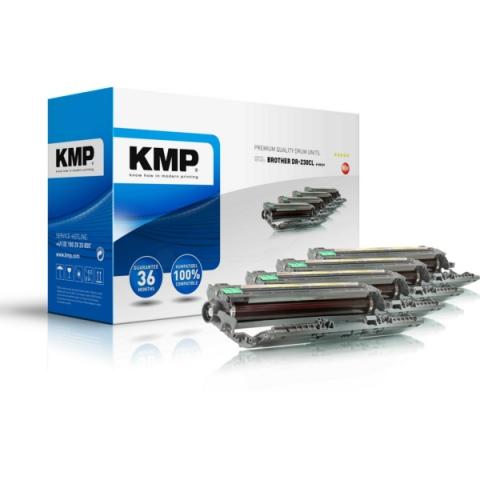 KMP Drumkit recycelt, für Brother DCP-9010CN,