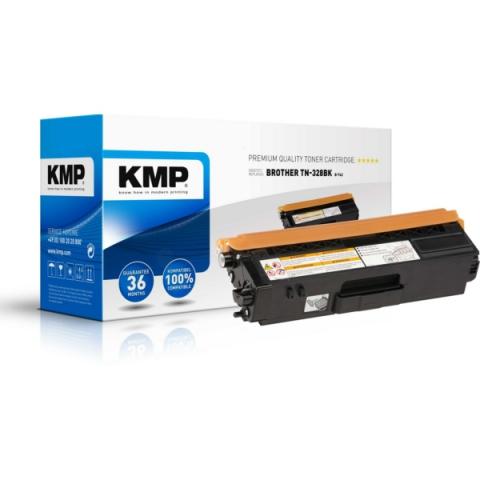 KMP Toner, recycelt, ersetzt TN328BK für