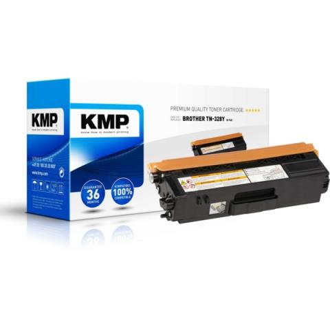 KMP Toner, recycelt, ersetzt TN328Y für Brother