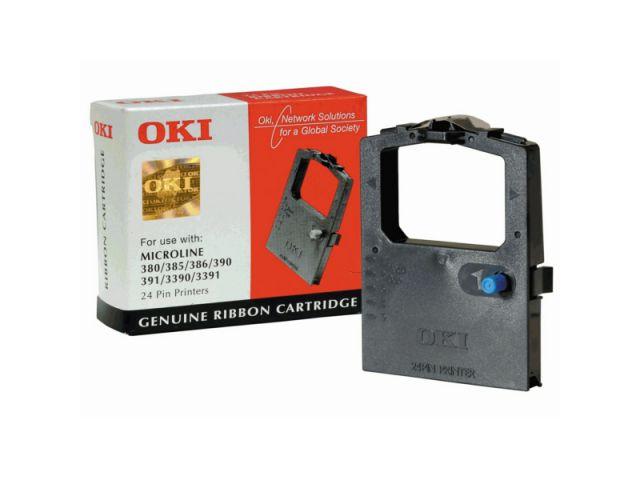 09002309 original Nylon-Farbband OKI für Microline ML 380 / 390 / 391 / 3390 / 3391, schwarz,