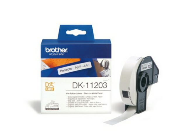 DK11203 BROTHER P-TOUCH QL550 LABEL300Labels / Rl 17mmx87mm Paper