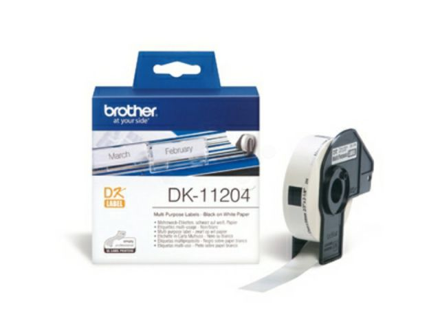 DK11204 BROTHER P-TOUCH QL550 LABEL400Labels / Rl 17mmx54mm Paper