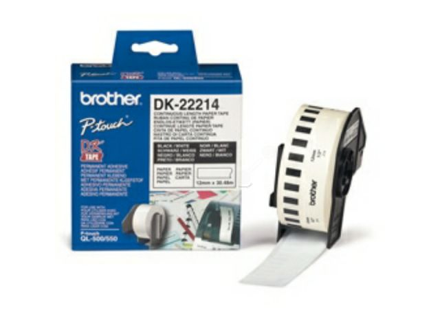 DK22214 BROTHER P-TOUCH QL550 PAPER 30, 48mx12mm white