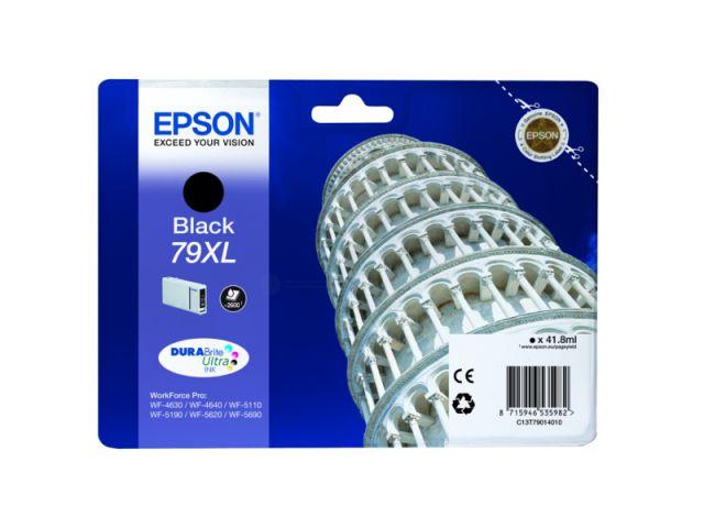 C13T79014010 Tintenpatrone XL mit 41, 8 ml Inhalt original Epson Druckerpatrone 79XL black