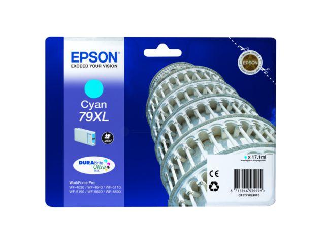 C13T79024010 Tintenpatrone XL mit 17, 1 ml Inhalt original Epson Druckerpatrone 79XL cyan