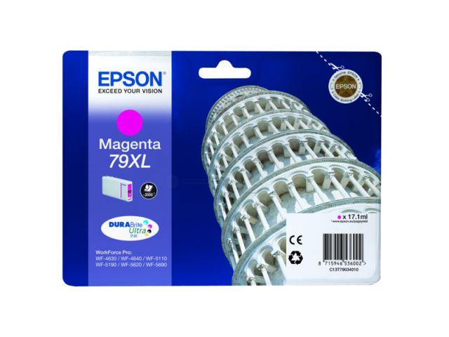 C13T79034010 Tintenpatrone XL mit 17, 1 ml Inhalt original Epson Druckerpatrone 79XL magenta