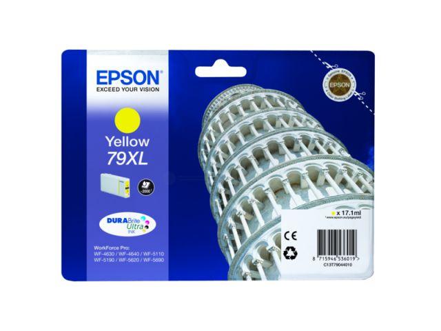 C13T79044010 Tintenpatrone XL mit 17, 1 ml Inhalt original Epson Druckerpatrone 79XL yellow