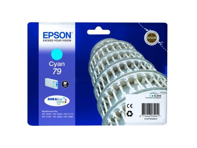 C13T79124010 Tintenpatrone mit 6, 5 ml Inhalt original Epson Druckerpatrone 79 cyan