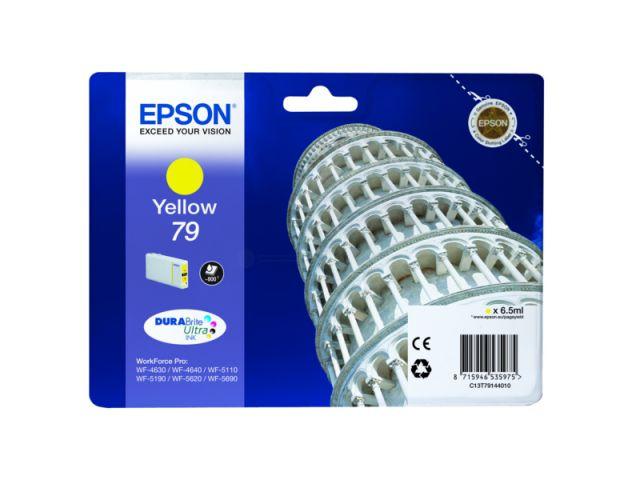 C13T79144010 Tintenpatrone mit 6, 5 ml Inhalt original Epson Druckerpatrone 79 yellow