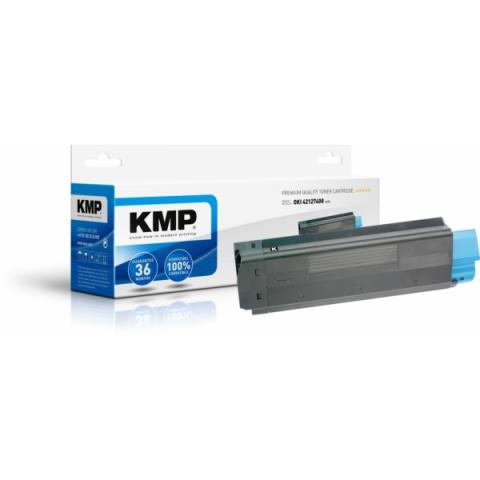 KMP Toner, recycelt, ersetzt 42127408 für Oki