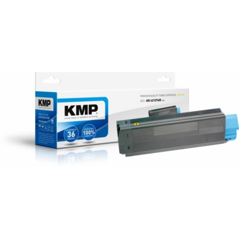 KMP Toner, recycelt, ersetzt 42127405 für Oki