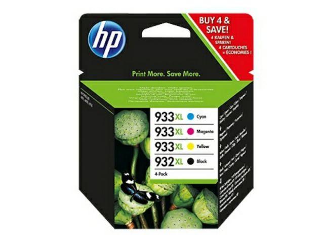 Multipack Druckerpatronen HP 1 x 932XL schwarz und 3 x No. 933XL color, schwarz und color
