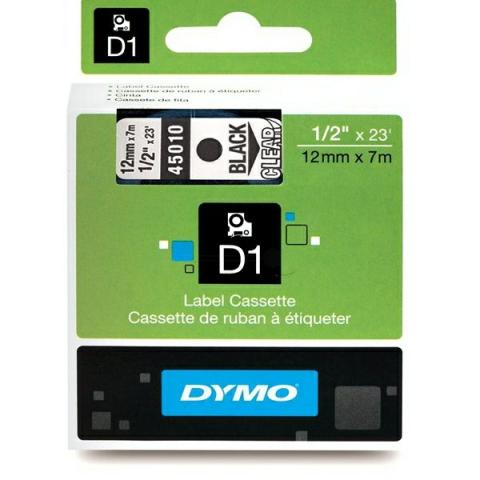 Dymo DYMO Schriftband D1 45010 schwarz ,