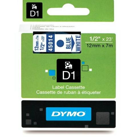 Dymo DYMO Schriftband D1 45014 blau , weiß