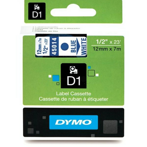 Dymo DYMO Schriftband D1 45014 blau , wei�