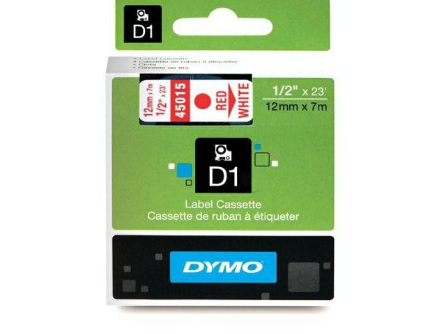 DYMO Schriftband D1 45015 rot / weiß