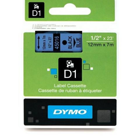 Dymo DYMO Schriftband D1 45016 schwarz , blau